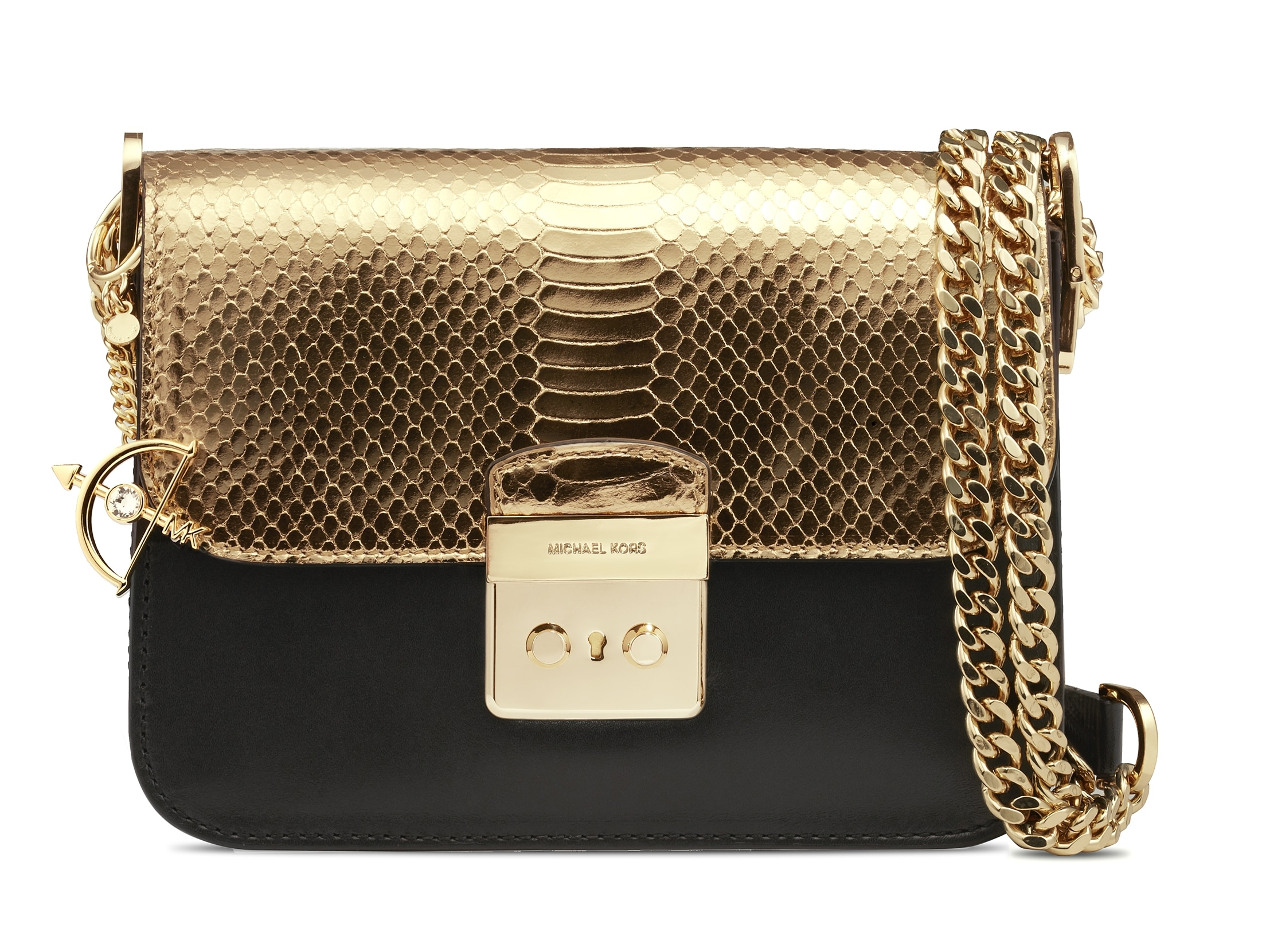 michael michael kors holiday gift guide tasche gold the finest emirates luxus magazin. Black Bedroom Furniture Sets. Home Design Ideas