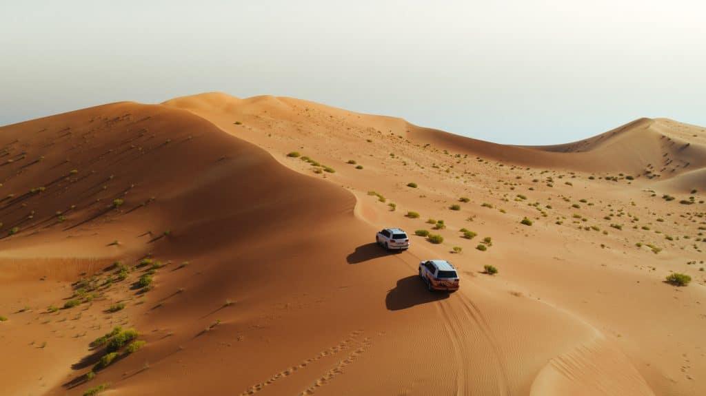 Offroad durch die Wüste in Abu Dhabi